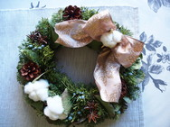 X'mas wreath ~fresh wreath~