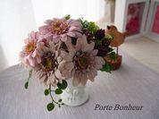 母の日向け'Porte Bonheur'アーティフィシャルフラワーアレンジメント