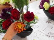 お正月の花レッスン
